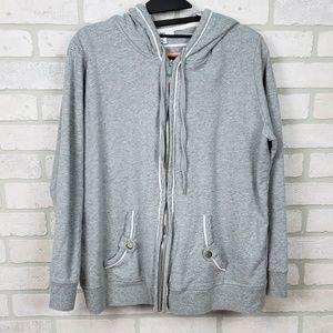 Anne Klein Sport Hoody Full Zip Gray 1X